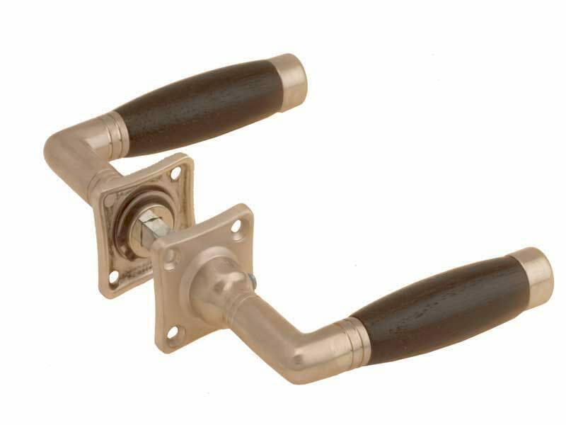 Deurkruk Ton Model.Deurkruk Mat Nikkel Ton Model Weijntjes Met Zwarte Greep Vast Op Rozet