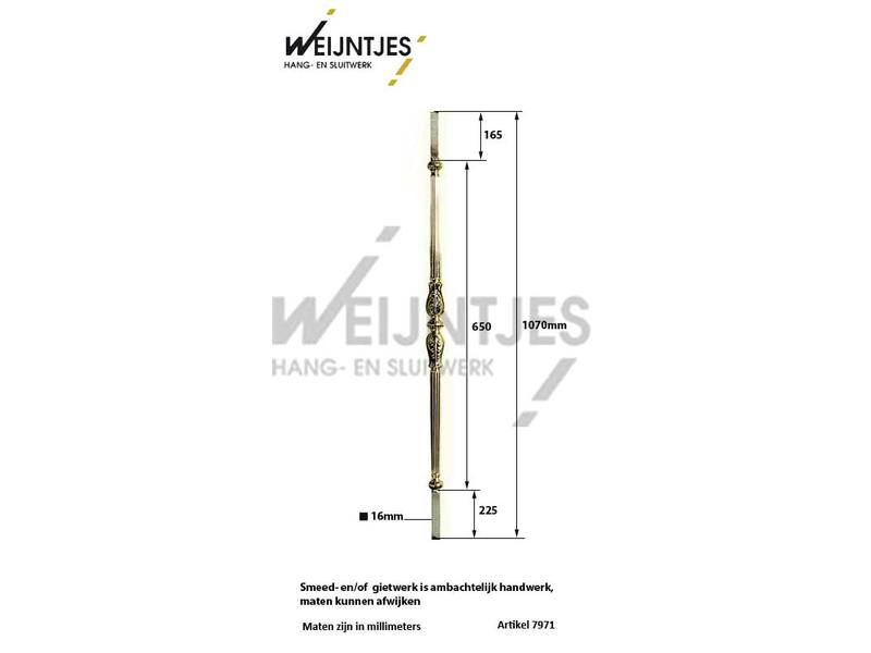 Baluster Messing Roos 2